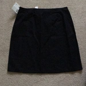 Black plus size skirt